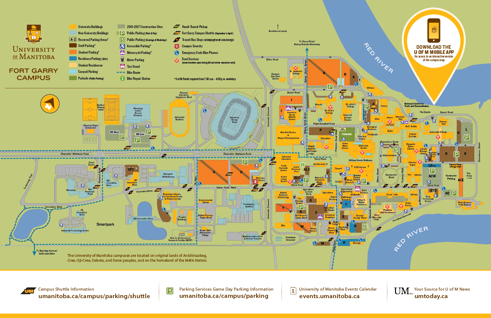 U Of I Campus Map Campus Maps | University of Manitoba