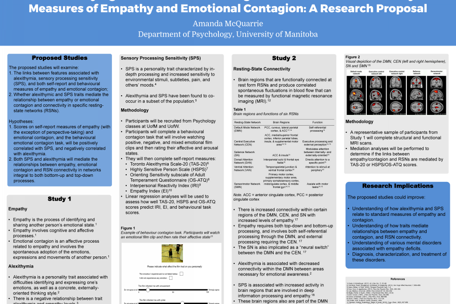 Research poster by Amanda McQuarrie