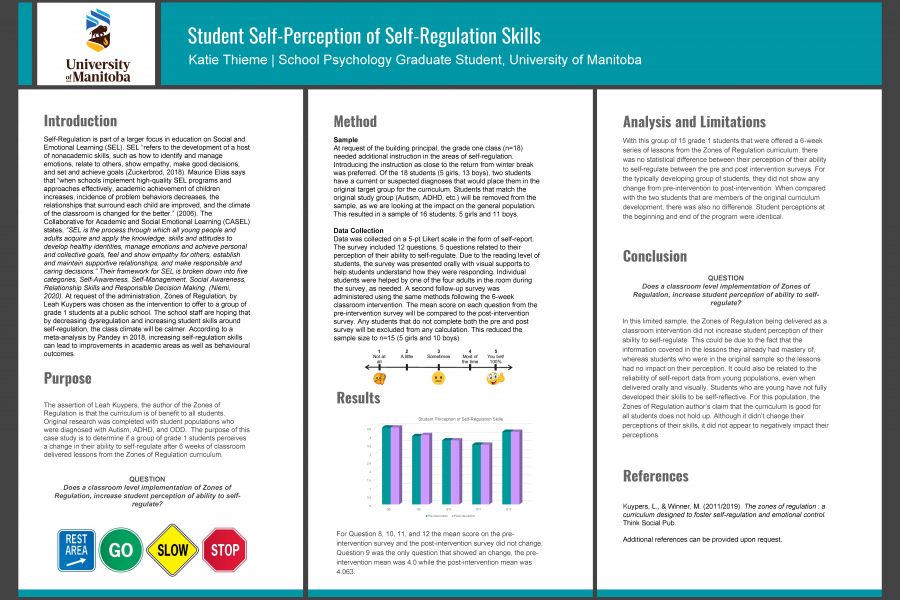 Research poster by Katie Thieme