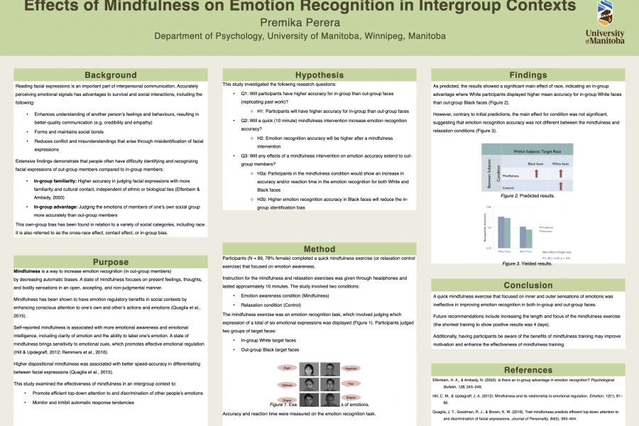 Research poster by Premika Perera