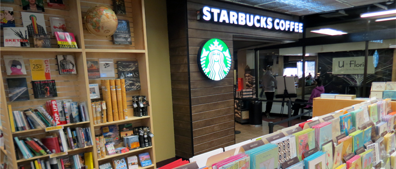Starbucks in FG Bookstore