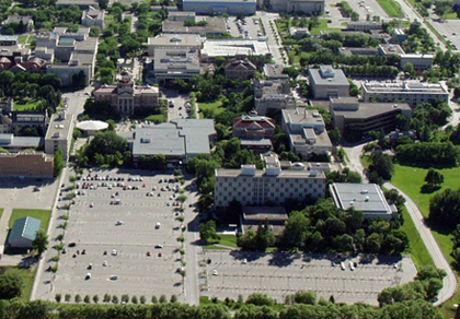Aerial Shot of B and L Lot, Fort Garry Campus