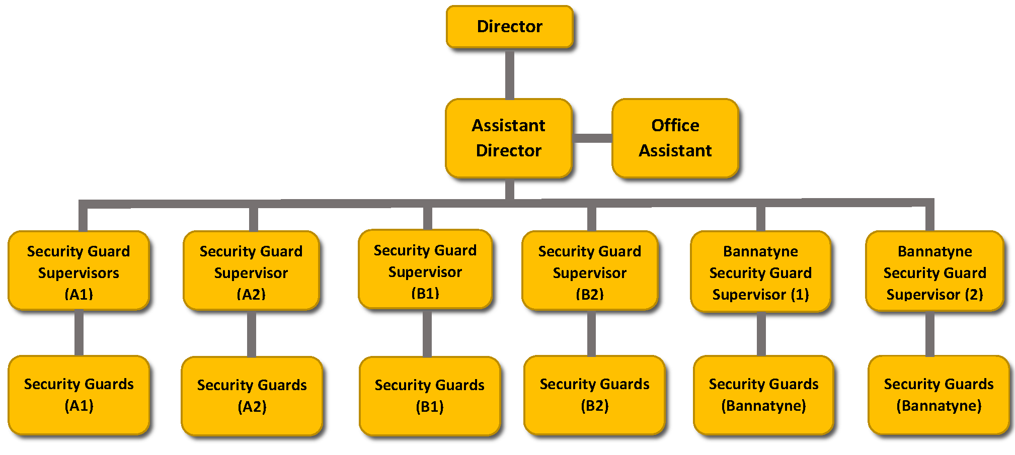 security services organizational chart