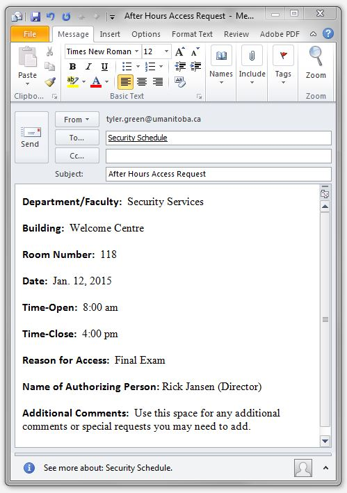 access outlook