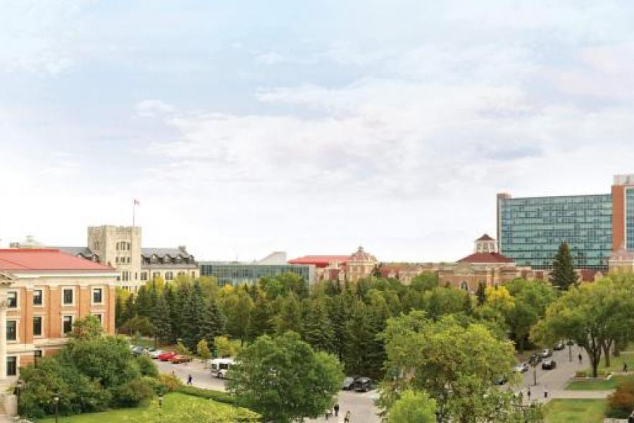 "alt: ""A panoramic view of the University of Manitoba Fort Garry campus."""