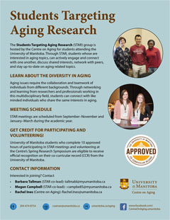 UM students are welcome to join the Students Targeting Aging Research (STAR) group