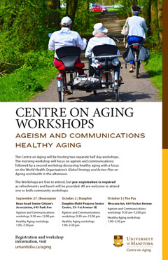 Centre on Aging communication and healthy aging Fall workshops