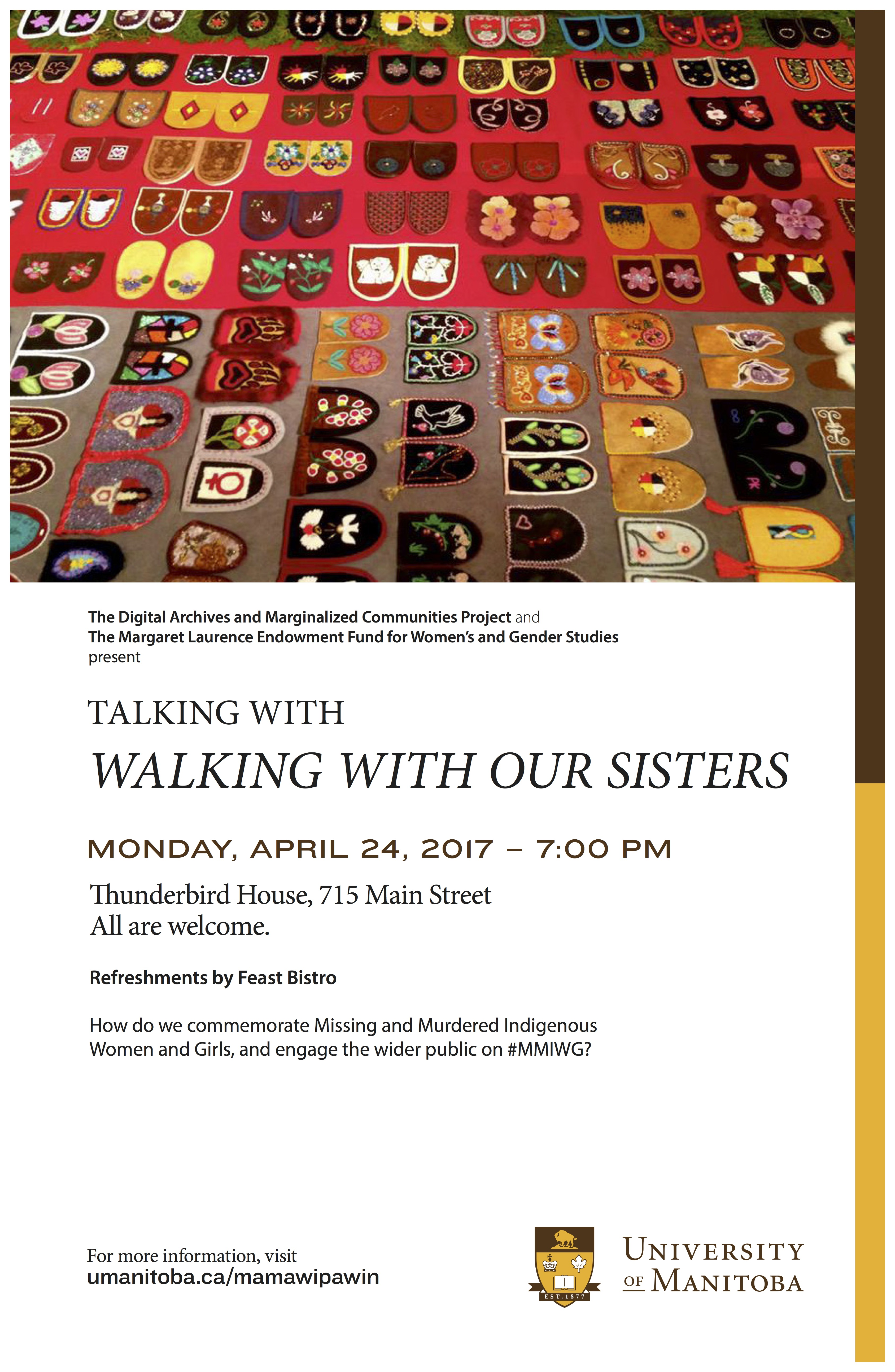 Talking with Walking with our Sisters poster