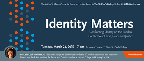 2015 St Paul's College University Affiliation Lecture March 24 7:00 pm