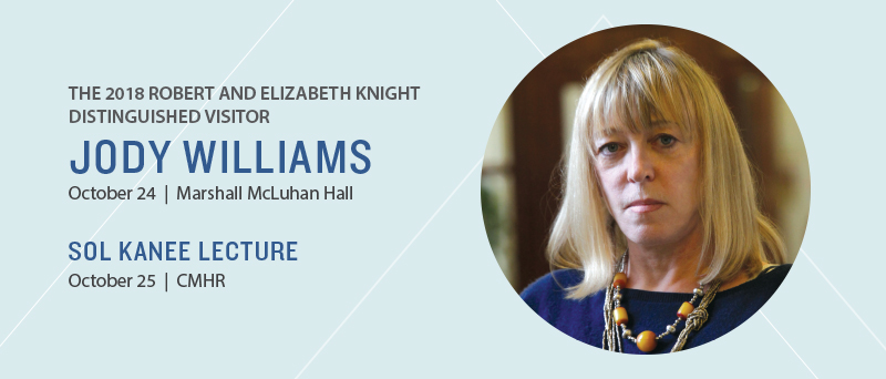 2018 Sol Kanee LEcture with Nobel Peace Laureate Jody Williams