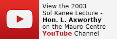Watch the video - 2003 Sol Kanee Lecture - Dr. Lloyd Aworthy