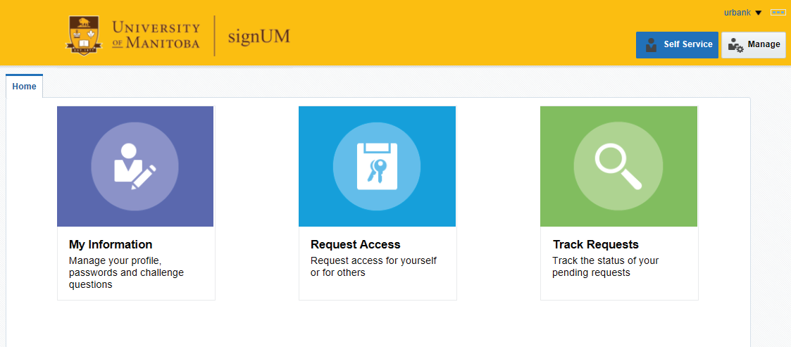 Screen capture image of the signUM home page