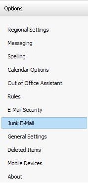 how to automatically delete junk mail in outlook