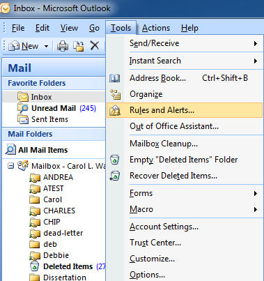 how to create mail in outlook