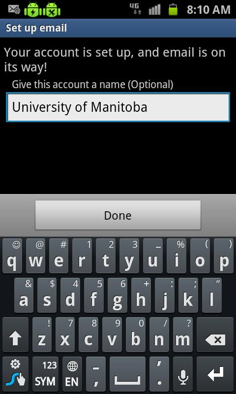how to add university email on android phone