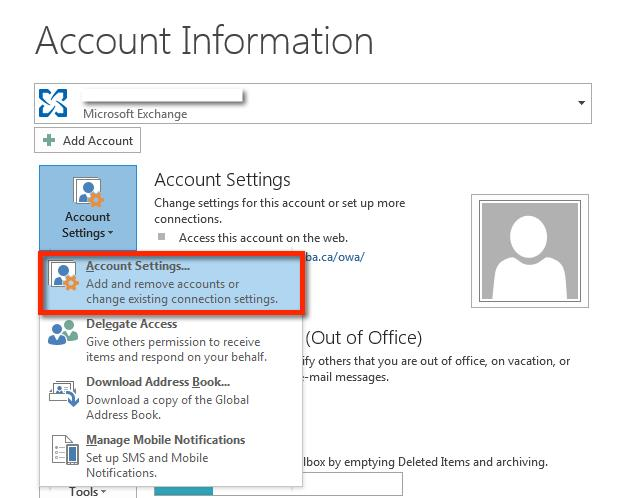 Outlook address book service