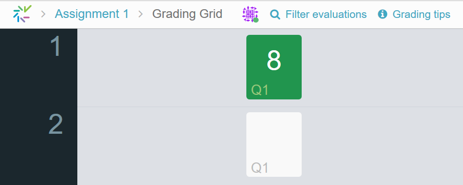 Image of the Grading Grid tab option