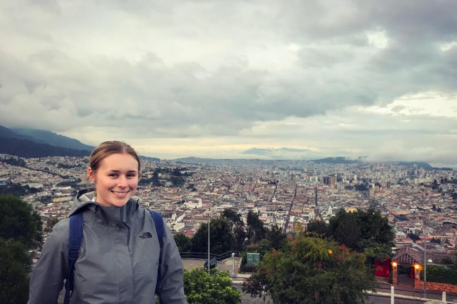 Laura Lucas exploring Ecuador's capital city of Quito.