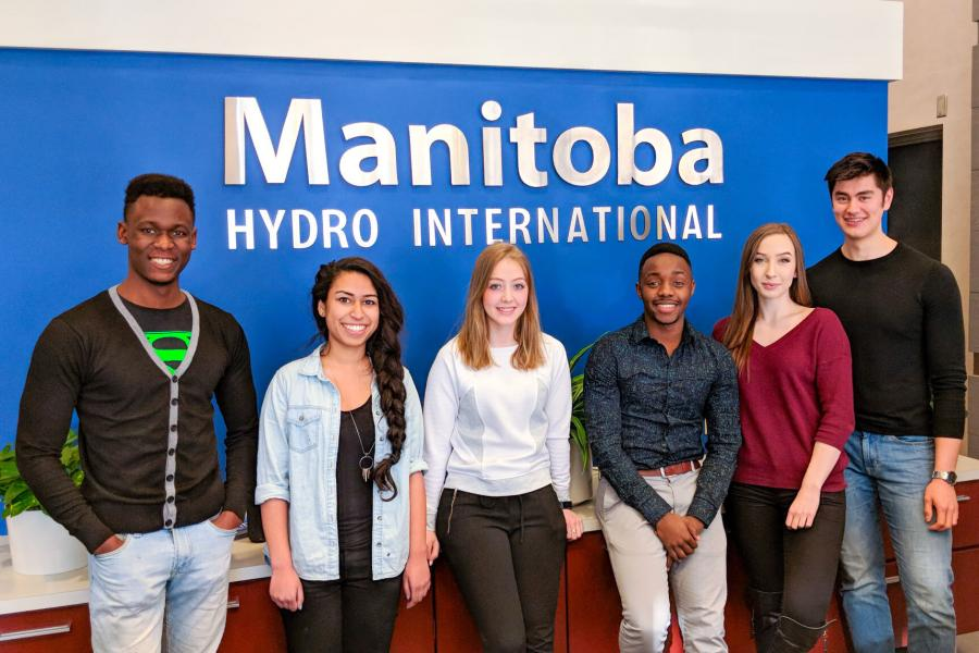Six Asper students participate in a co-op at Manitoba Hydro International.