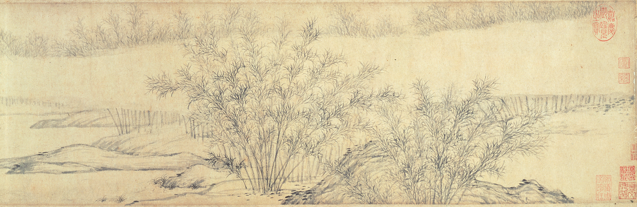 Bamboo grove painting