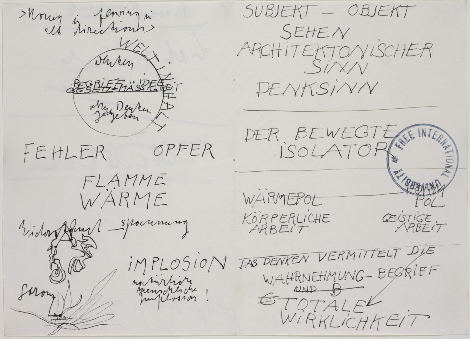 Beuys handwriting