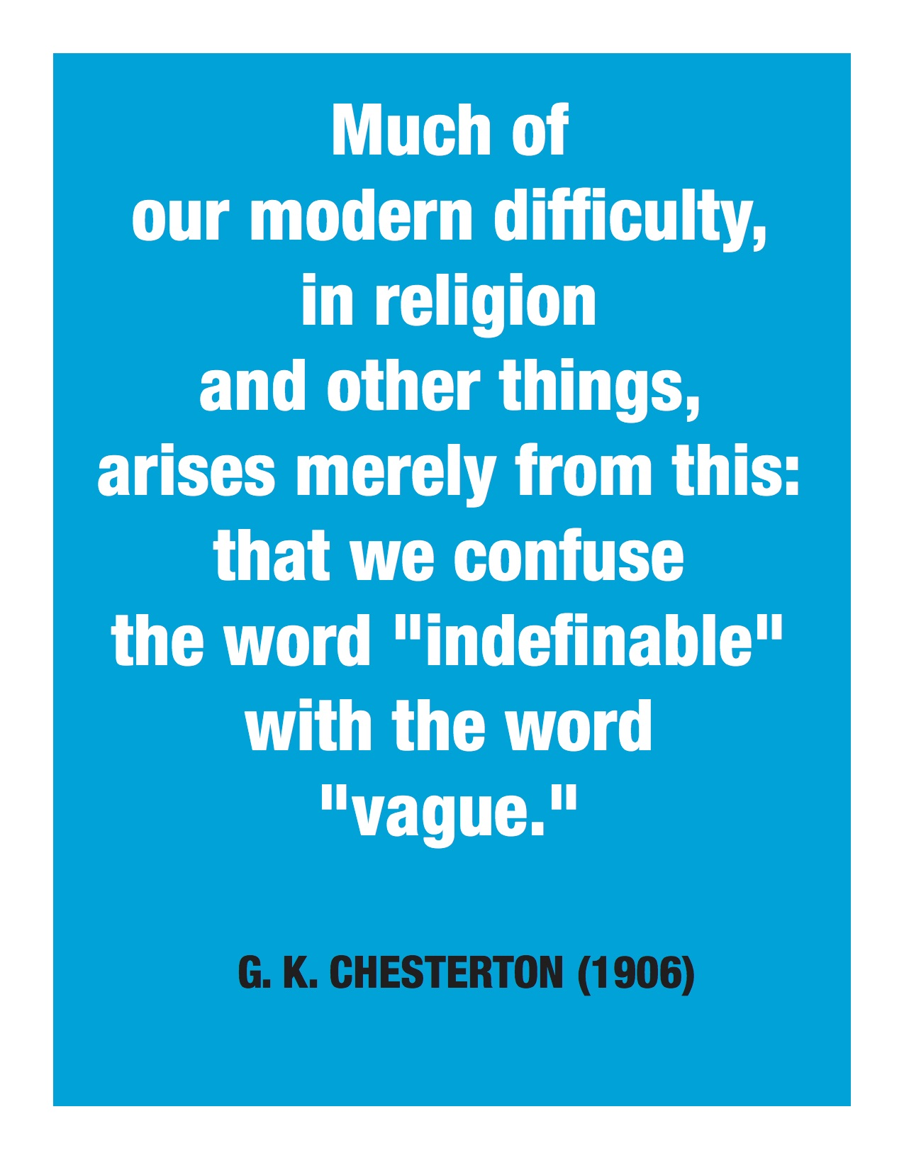 Chesterton text