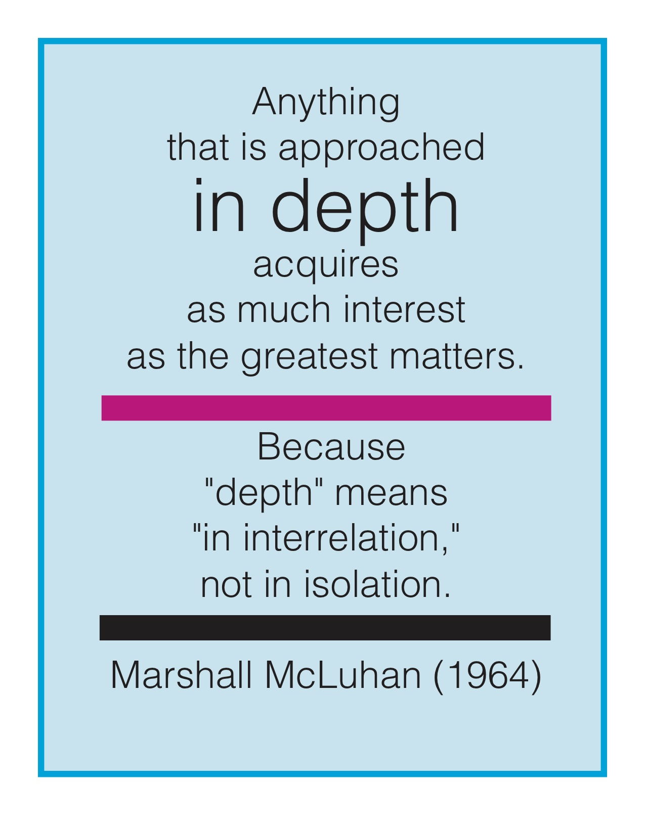 McLuhan Depth text