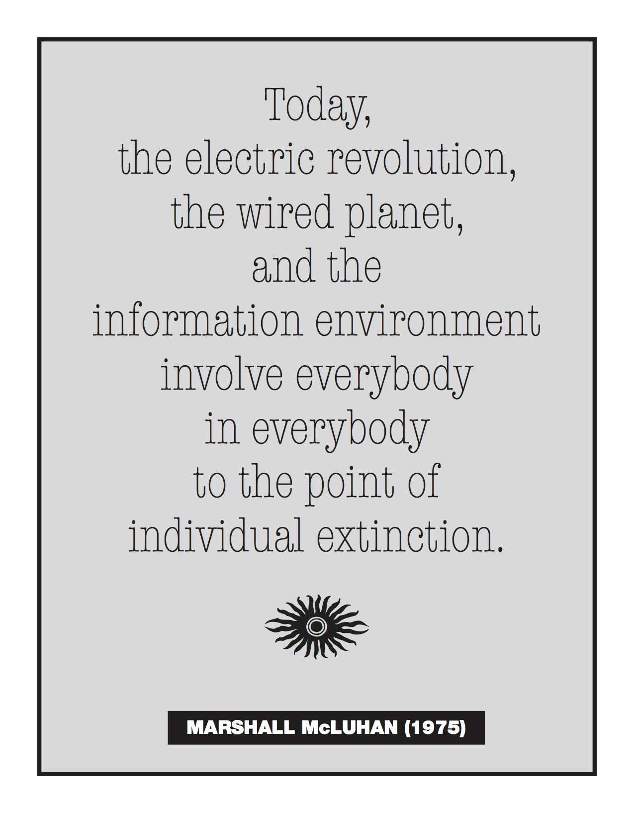 McLuhan Electric Revolution