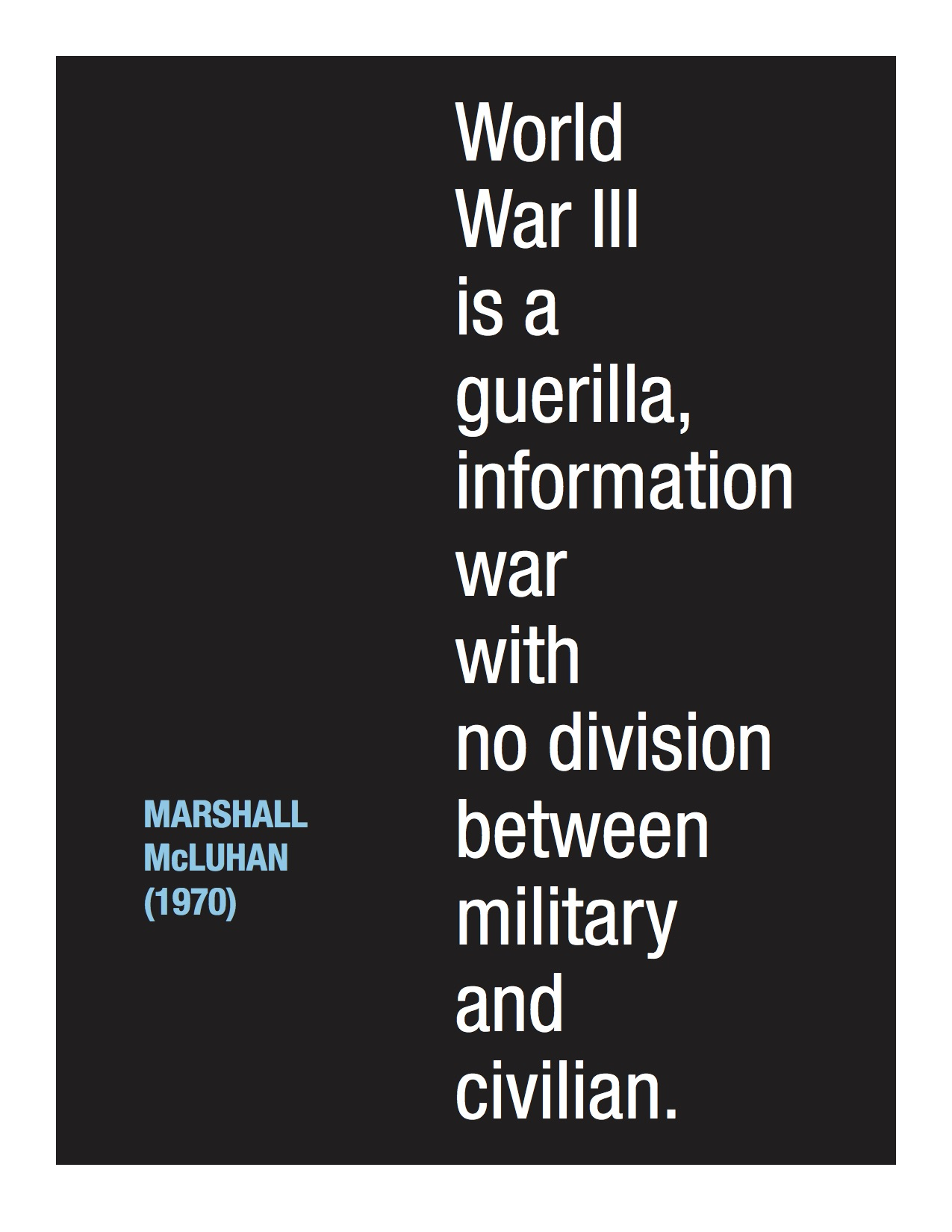 McLuhan War text