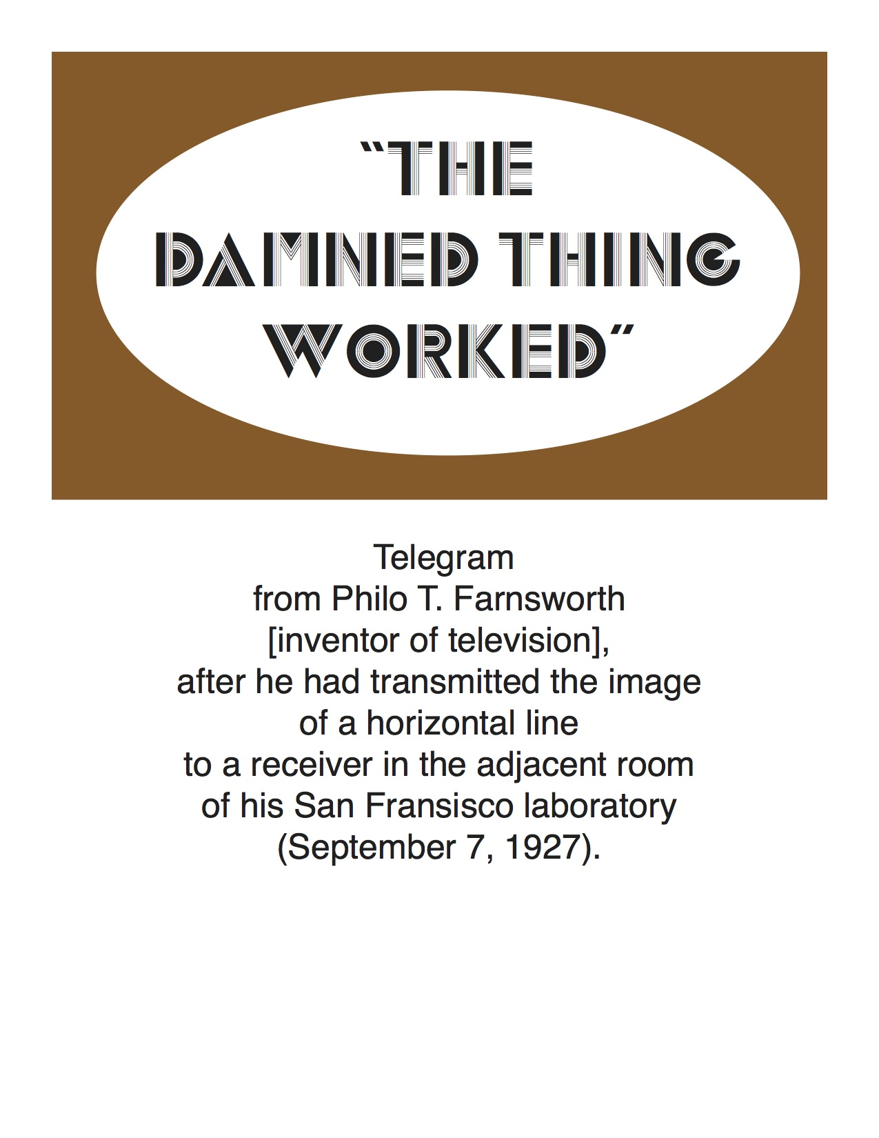 Philo Farnsworth telegram