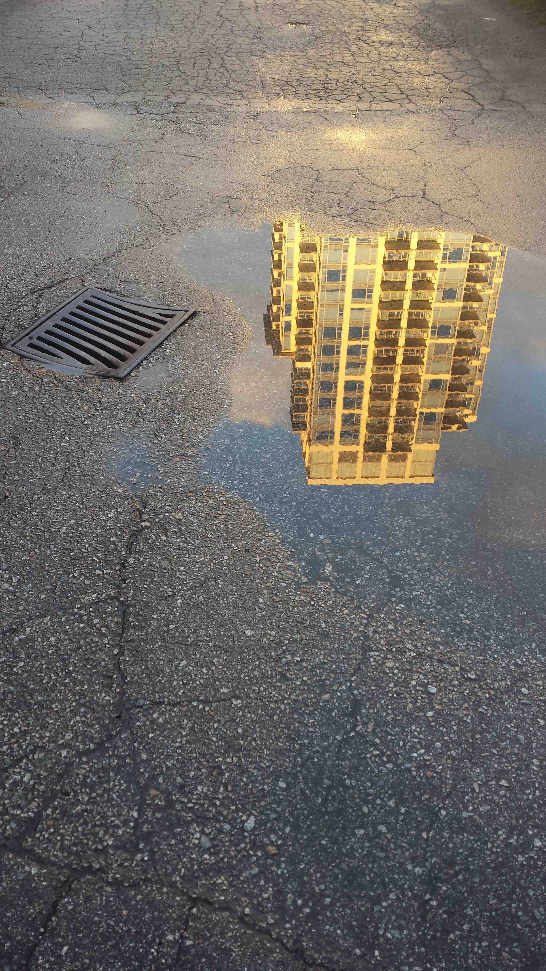 Highrise in puddle