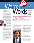 WarrenWords Newsletter vol.1 no.1