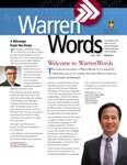 WarrenWords Newsletter vol.2 no.1