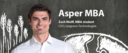 Zach Wolff Asper MBA student and CEO of Exigence Technologies
