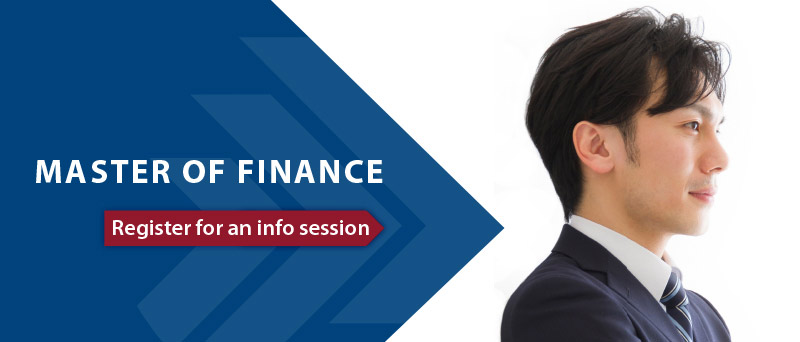 Master of Finance - register for an information session