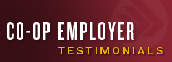 Co-op Employer Testimonials