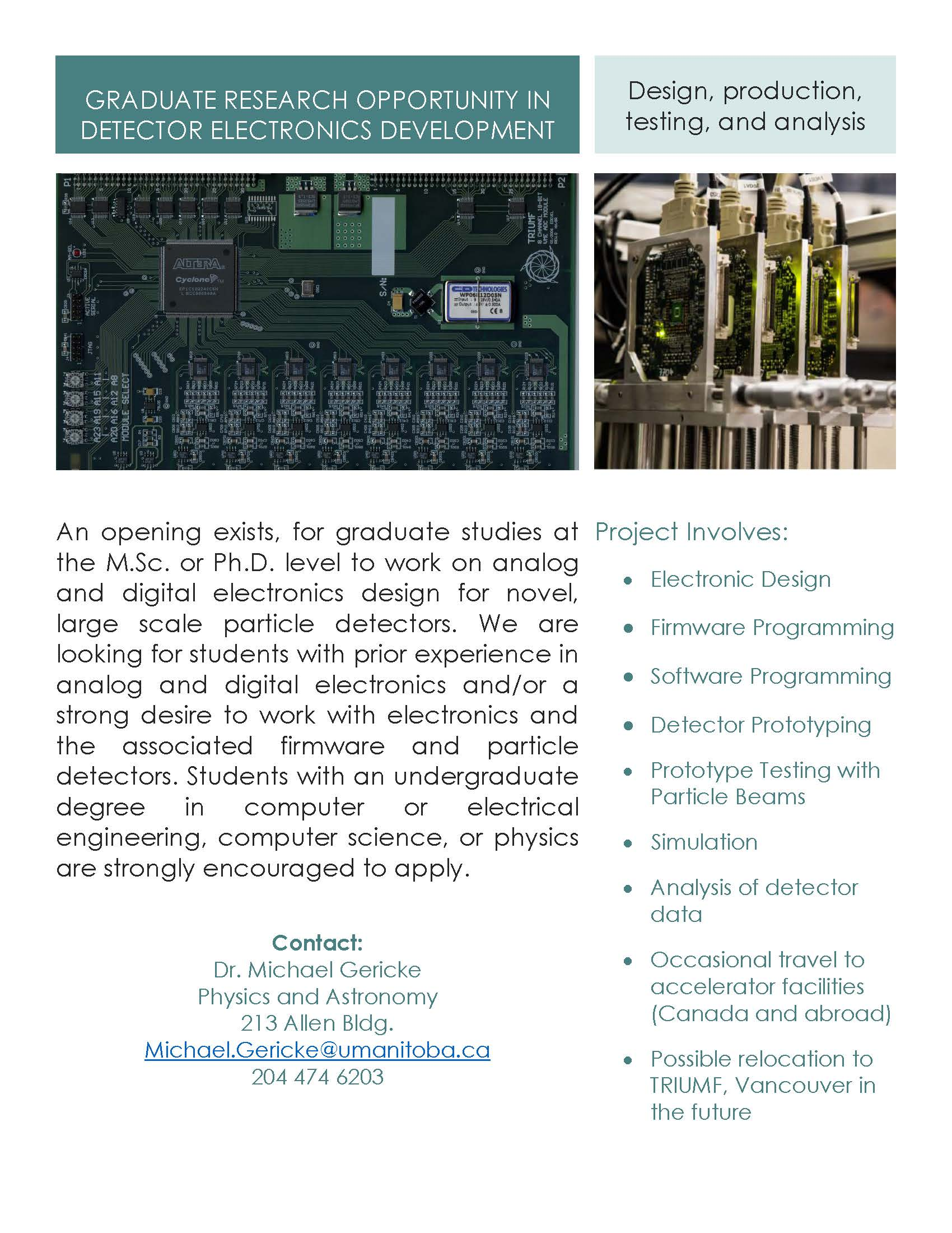 Graduate Student Opportunity