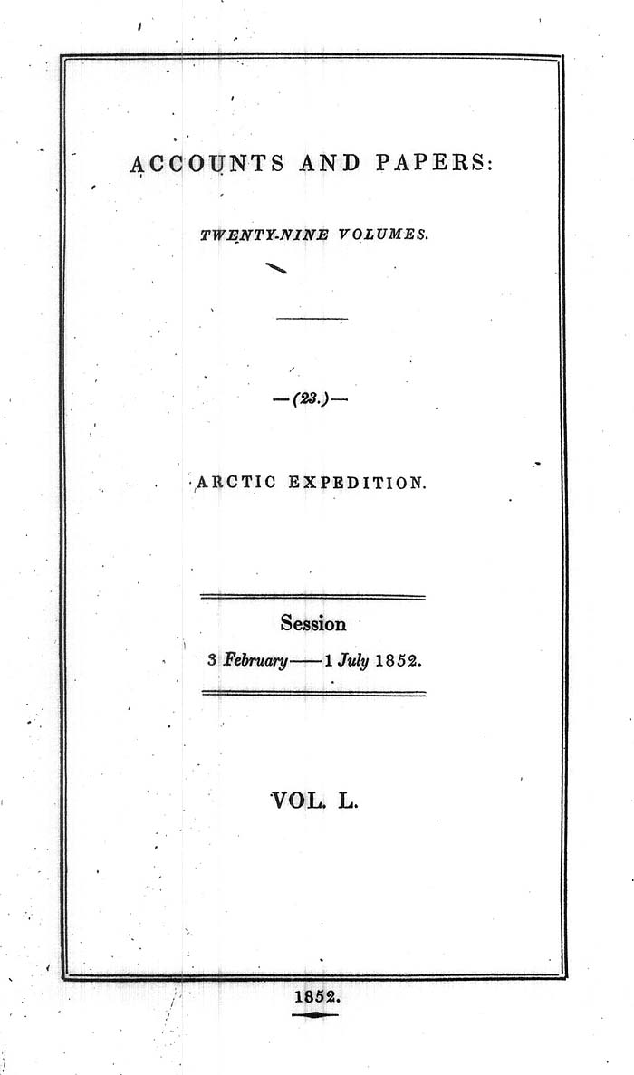 Arctic Blue Books, Taylor 1852f, page i1