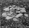 Photograph of paved tent floor