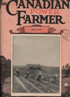 The Canadian Power Farmer, front cover, July 1921