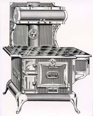 Wood engraving of stove in Eaton's catalogue (WAG - Brigden-PR5_1_9_1C)
