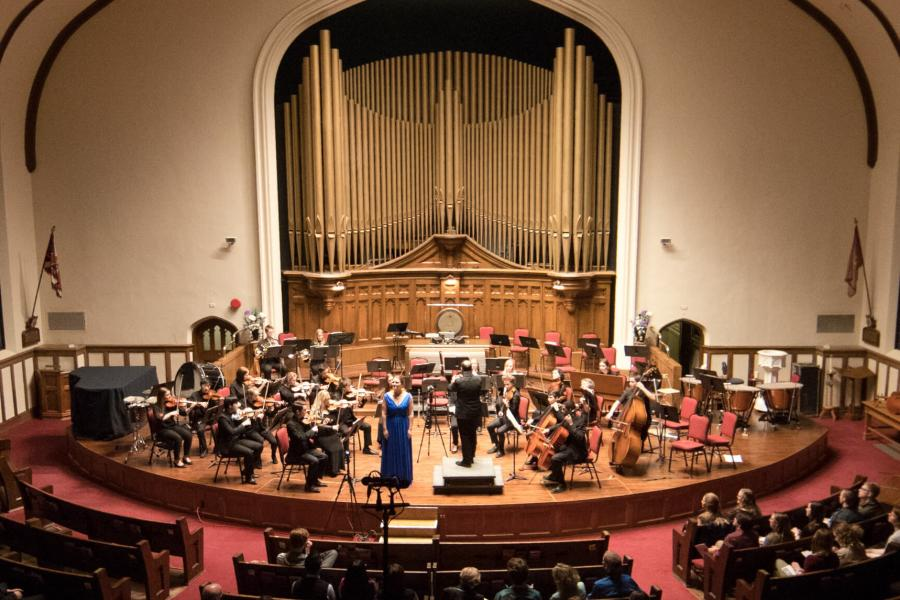 A University of Manitoba Symphony Orchestra performance.