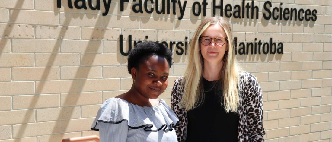 Aderinsola Obafisoye and Veronica Zot are two of 23 interns taking part in the college of nursing's summer research internship program this year.