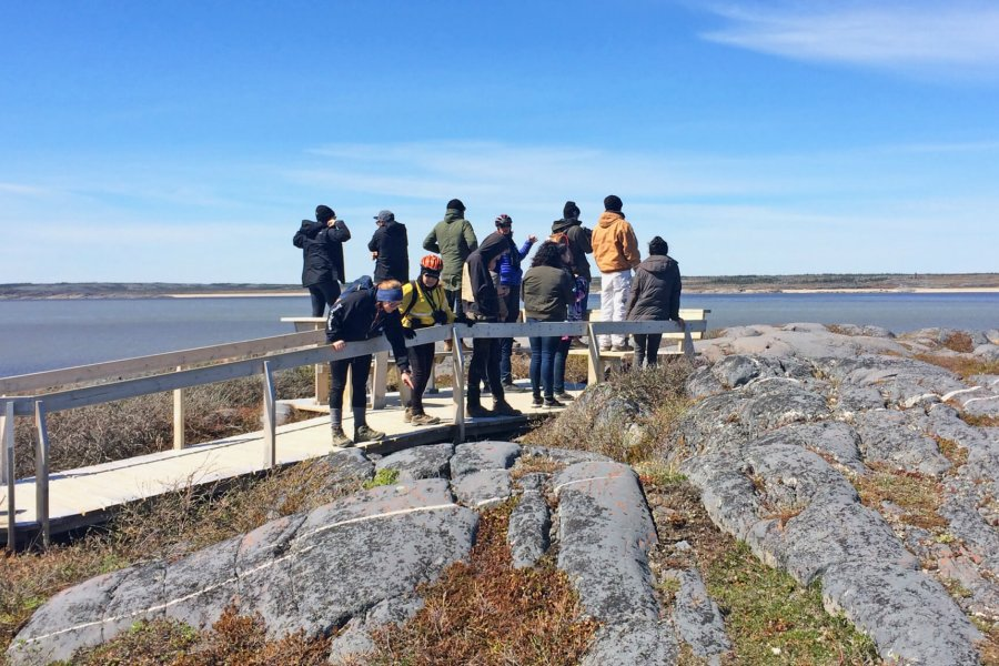 A group of University of Manitoba students researching and exploring beautiful Churchill Manitoba.