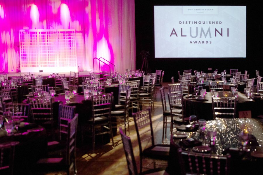 Distinguished Alumni Awards stage
