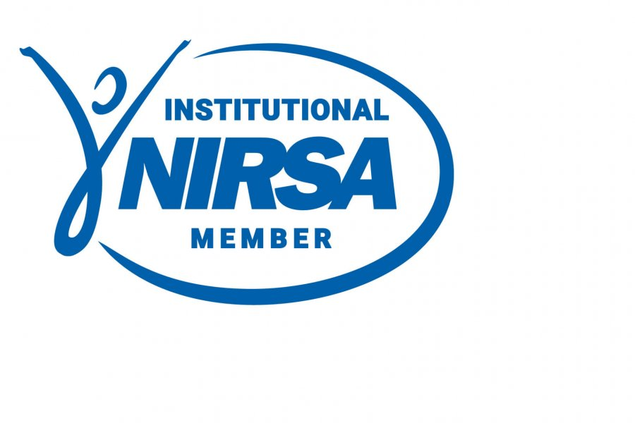 The institutional NIRSA member National Intramural-Recreational Sports Association logo.