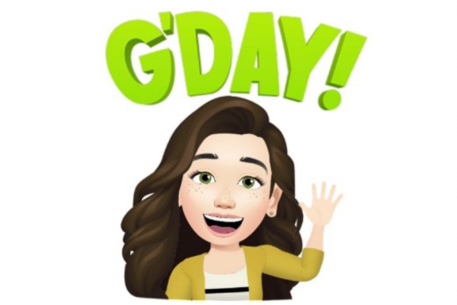 Bitmoji of Lisa MacPherson, Career Consultant, waving with text 'G'Day' above her head