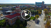 Aerial video of campus
