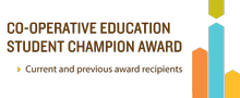 Co-operative Education Student Champion Award button