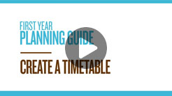 Create a timetable Video